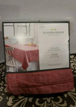 Threshold Tablecloth Chambray Hemstitch Red - 60 X 104 In Ob
