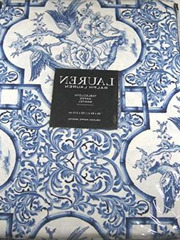 Ralph Lauren Tablecloth Chinoserie/Blue and White 60 x 84 10