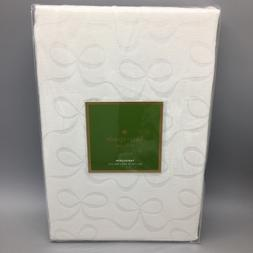 Kate Spade Tablecloth Cream Bow Fabric Christmas 70R 60x84 6