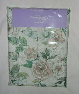 Holiday Home Tablecloth Floral Butterflies Multi-colors 52 i
