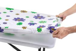 Tablecloth for Folding Table -Fitted Rectangular Table Cloth