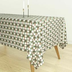 Tablecloth Golf Harlequin Checked Golf Course Sports Outdoor