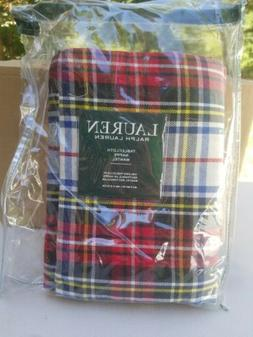 "Ralph Lauren Tablecloth Gretchen Tartan Plaid 60"" x 84"" NEW"