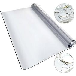 Tablecloth Heavy Duty Plastic Clear PVC Table Cover Spills P