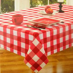 Tablecloth Picnic Red White Check Plaid High End Fabric New