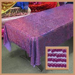 "Tablecloth Rectangular Rain Drop Oval Sequin 54"" X 108"" Cove"