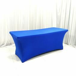 Tablecloth Rectangular Stretch Bar Table Cover For Wedding P