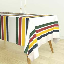 Tablecloth Rustic Stripe Outdoor Camping Decor Mountain Prim