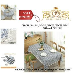 Tablecloth Table Cloth Cover Square Rectangle Round Navy Dam