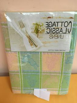 tablecloth various sizes spring easter flowers bunny