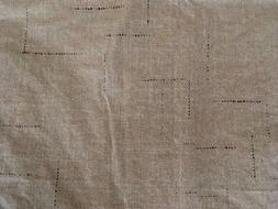 "TABLECLOTH VINYL RECTANGULAR 68"" X 50"" LINEN BEIGE WITH"