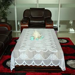 Tablecloth White, Lace Tablecloths, Crochet Tablecloth,Recta