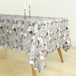 Tablecloth Woodland Mountain Outdoors Neutral Tan Adventure