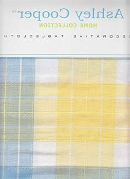Ashley Cooper Tablecloth Yellow and Blue Cotton Plaid Fabric
