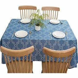 Tablecloths For Rectangle Tables 60 X 84 Inch, Fabric Blue P