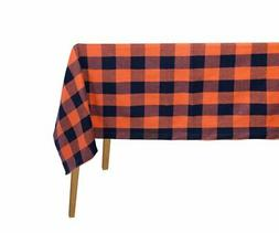 Tablecloths for Rectangle Tables Cotton - Dark Orange and Bl