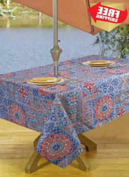 Tablecloths Outdoor Tablecloth with Umbrella Hole & Zipper 5