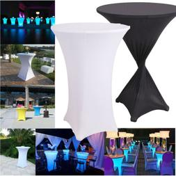 Tall Cocktail Round Folding Stretch Spandex Table Cover Clot