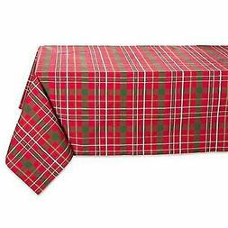 DII Tartan Holly Plaid Square Tablecloth, 100% Cotton with 1