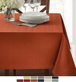 "Textured Fabric Tablecloth, Bison, 60"" x 104"" Rectangular"