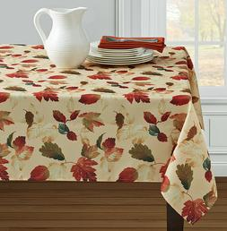 """Thanksgiving Fall Tablecloth Fall Leaves Tablecloth 60""""x 84"""""""