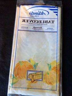 THANKSGIVING TABLECLOTH 54x108 Rectangle Plastic BOUNTIFUL H