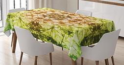 Ambesonne Tie Dye Decor Tablecloth, Round Creepy Figure with