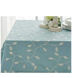 Tina's Cotton Linen Tablecloth Leaf Embroidered Table Cover