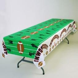 "Touchdown Football Field Plastic Tablecloth 54"" x 108"""
