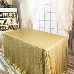 BalsaCircle TRLYC Black Friday Sparkly Gold Sequin Tableclot