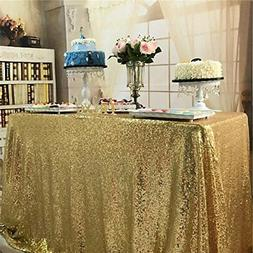 BalsaCircle TRLYC Fathers'Day Gift Sparkly Gold Sequin Table