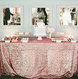BalsaCircle TRLYC 50x50-Inch Square Sequin Tablecloth for We