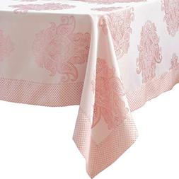 Pink Tablecloth Rose Paisley Pattern Polyester Table Cover -