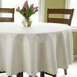 Turkish Round Tablecloth Polyester Table Cover - Stain Resis