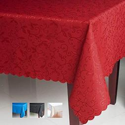 Turkish Tablecloth Polyester Table Linen, Stain Resistant, W