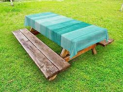 Turquoise Outdoor Picnic Tablecloth Easter Holiday Theme Pri