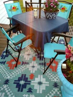 "Umbrella  patio tablecloth  54"" SQUARE easycare  fabric poly"