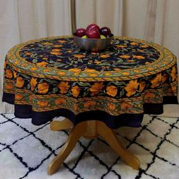 Unique Handmade 100% Cotton French Floral Tablecloth Round 6