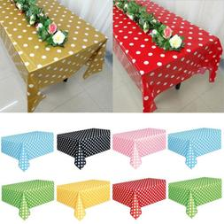 US Rectangle Plastic Tablecloth Table Cover For Banquet Wedd
