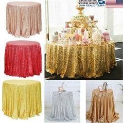US Round Sequin Tablecloths Table Cloth Cover Wedding Event