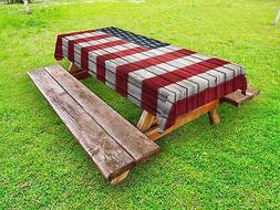 USA Outdoor Picnic Tablecloth Fourth of July Independence Pr