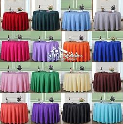 Various Colors, Shapes & Sizes Pure Color Table Cloth For Ho