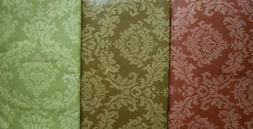 VARIOUS SIZES / COLORS -DAMASK-VINYL / FLANNEL BACKED-TABLEC
