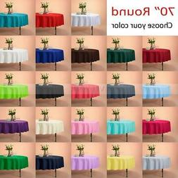 """VEEYOO 70"""" Round Tablecloth Linen Great Weddings Events Part"""