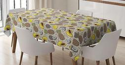 Vegan Tablecloth by Ambesonne 3 Sizes Rectangular Table Cove