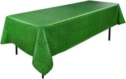 Vibrant Green Grass Table Cover, Table Cloth, Plastic, Easte