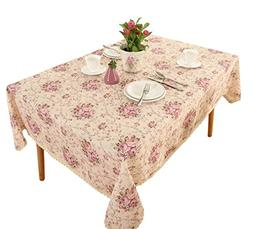 "Vintage Flower Decorative 55x71"" Rectangle Linen Table cloth"