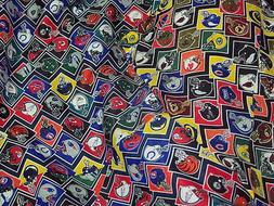 "Vintage NFL football 100% poly fabric 1 y X 44"" tailgating d"
