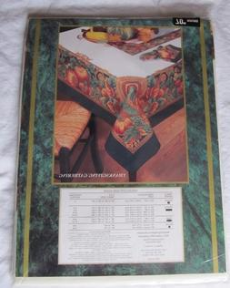 vintage nos holiday thanksgiving gathering tablecloth 70