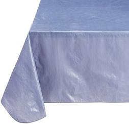 Carnation Home Fashions Vinyl Tablecloth with Polyester Flan